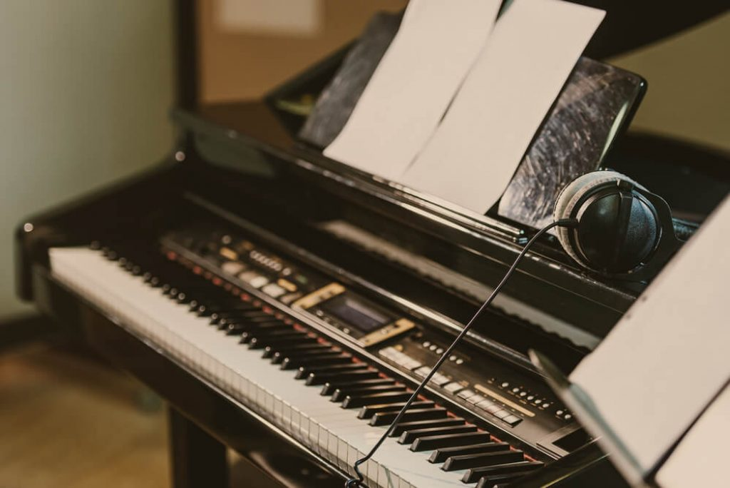 close up of a digital electric piano