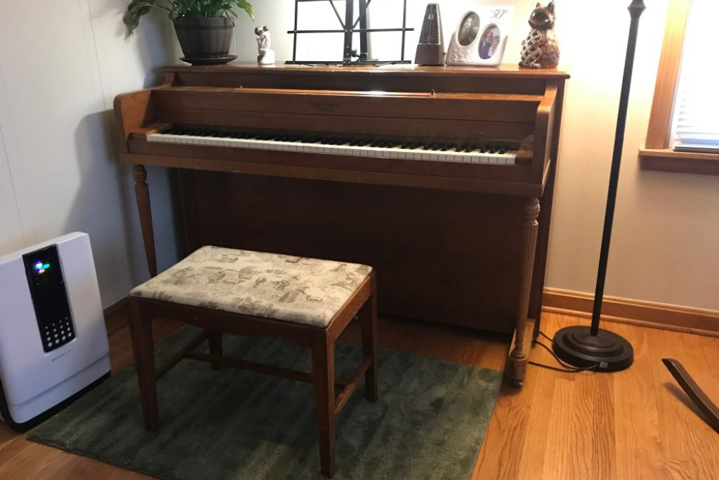 this spinet piano I started learning on