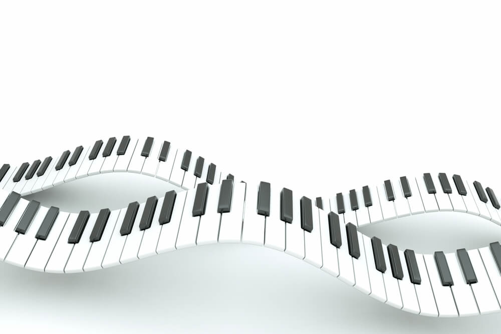wavy piano keyboards