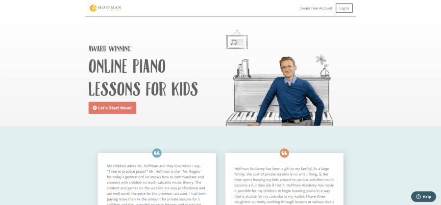 hoffman academy online piano lessons for kids screen shot