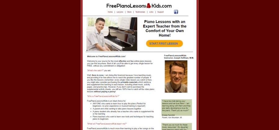 hoffman online piano lessons for kids