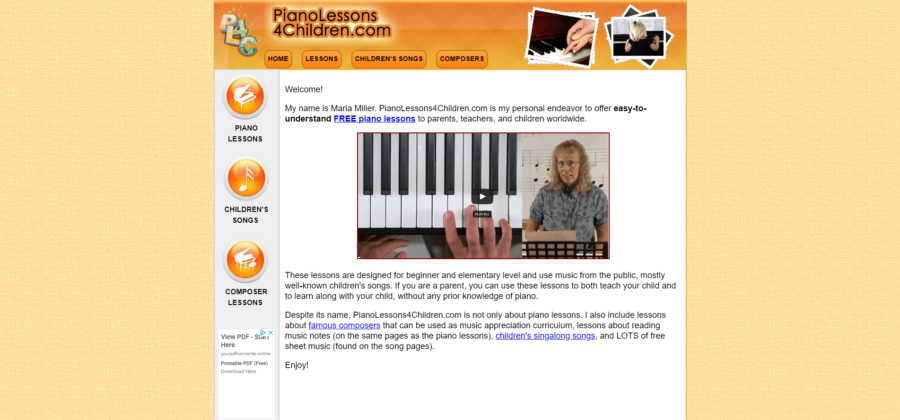 piano lessons 4 children home page